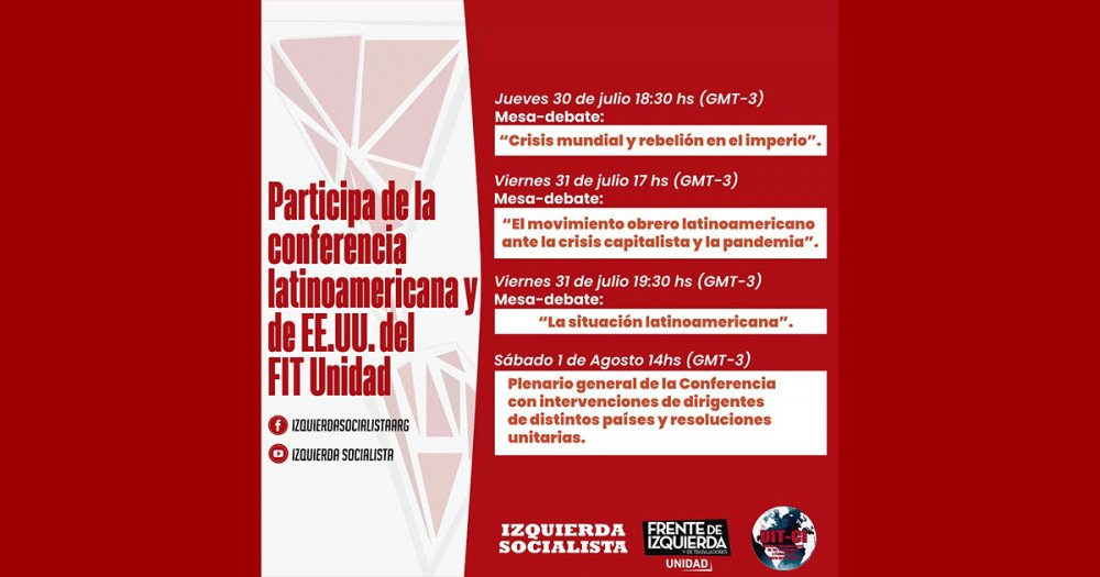 Conferencia virtual Latinoamericana y de los Estados Unidos del FIT Unidad