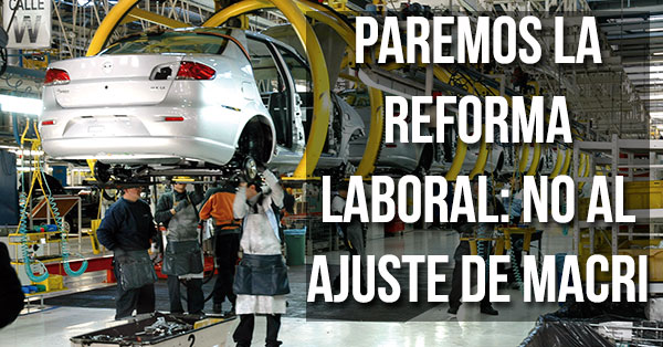 Paremos la reforma laboral