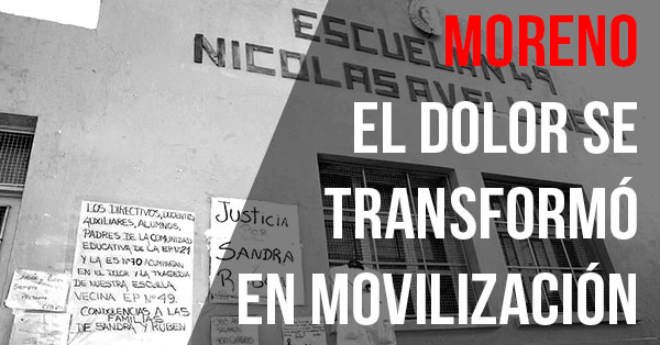 moreno el dolor se transformo en movilizacion