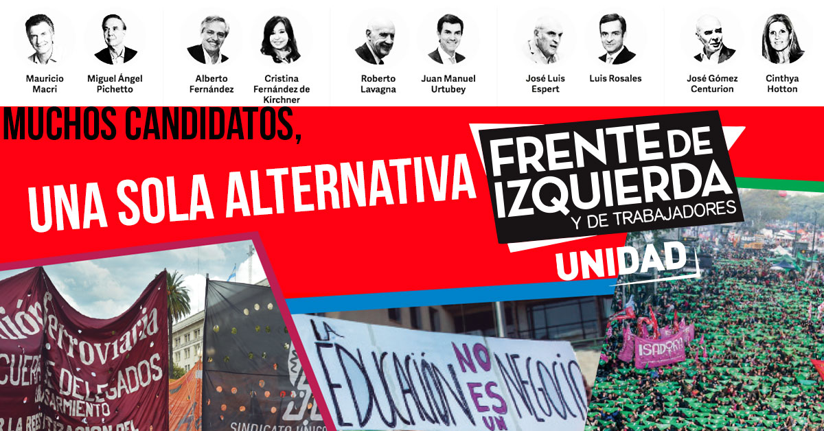 muchos candidatos una sola alternativa