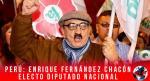 Perú: Enrique Fernández Chacón electo diputado nacional