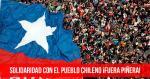 Solidaridad con el pueblo chileno ¡Fuera Piñera!