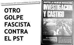 Tapa de Avanzada Socialista  Nº 128. 7/11/1974