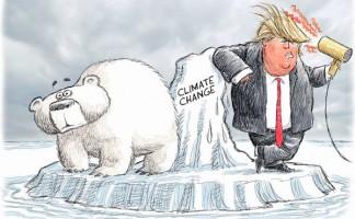Dibujo de Nick Anderson en el diario estadounidense Houston Chronicle