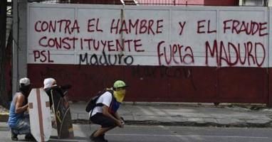 Pintada del PSL, organización hermana de Izquierda Socialista, en Caracas