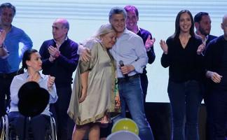 Macri festeja con Carrio