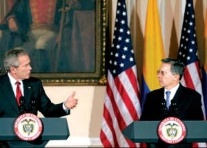 Bush y Uribe, presidente de Colombia