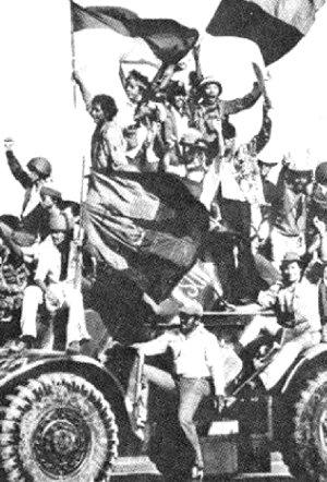 En Managua los guerrilleros y el pueblo festejaron el triunfo