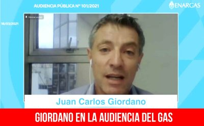 Giordano en la audiencia del gas