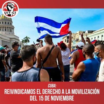 Cuba: Reivindicamos el derecho a la movilización del 15 de noviembre