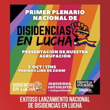 Exitoso lanzamiento nacional de Disidencias en Lucha