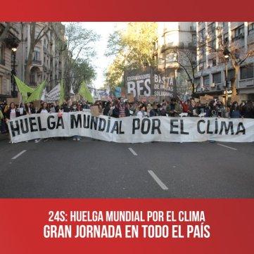 24S: Huelga Mundial por el Clima / Gran jornada en todo el país