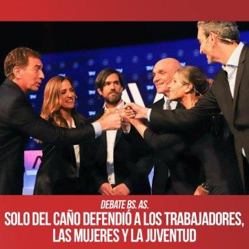 Debate Bs. As. / Solo Del Caño defendió a los trabajadores, las mujeres y la juventud