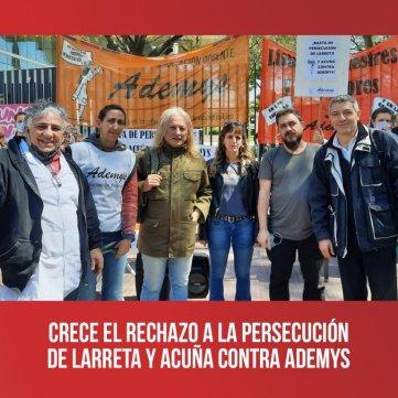 Crece el rechazo a la persecución de Larreta y Acuña contra Ademys