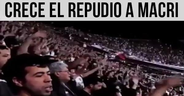 Crece el repudio a Macri