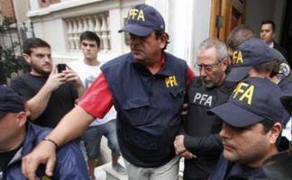 Ricardo Jaime al momento de ser detenido en Córdoba