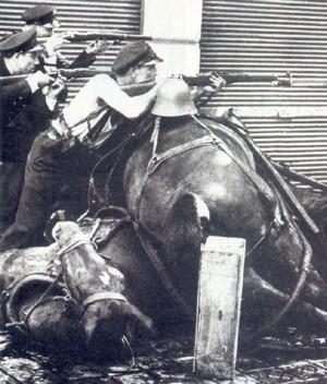 Milicianos en Barcelona, 1936